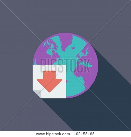 Download single flat icon.