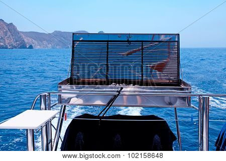 Barbecue Grill On Sea Yacht Deck, Greece