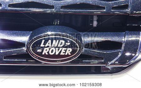 Logo Of Land Rover On Bumper