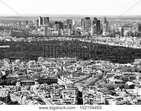 View of parisian business district La Defense