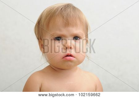 Unhappy Baby Portrait