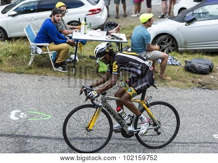 The Cyclist Merhawi Kudus Ghebremedhin - Tour De France 2015