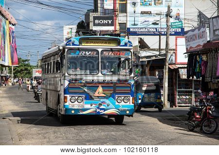 Typical Bus For Public Transport In Sri Lanka