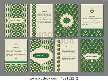 Set of flyers with arabian patterns