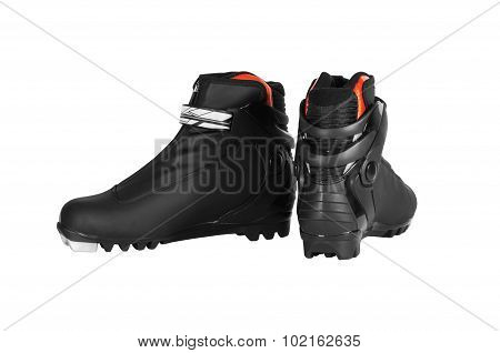 Pair Of Ski Boots Black Colours.