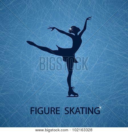 Illustration With Figure Skater.
