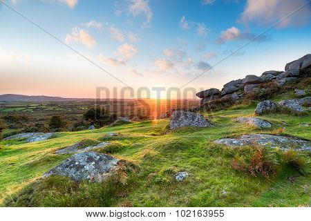 Sunset In The Cornish Countryside