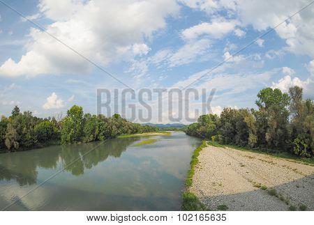 River Po In Settimo Torinese