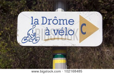 Cycling Path In The Drome France