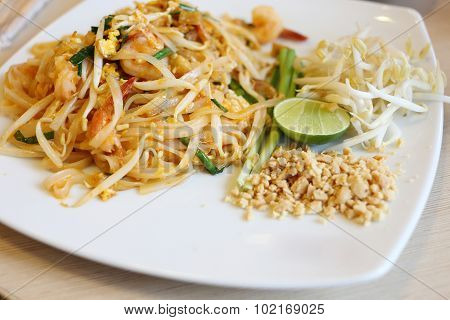 Pad Thai, Stir Thailand Traditional Of Thai Food
