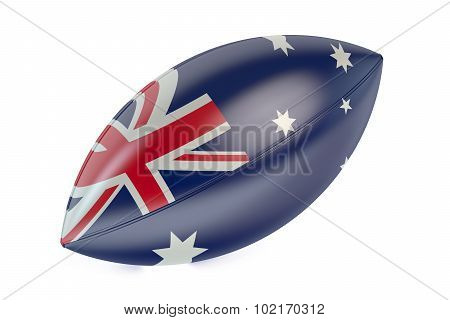 Rugby Ball With Flag Of Australia