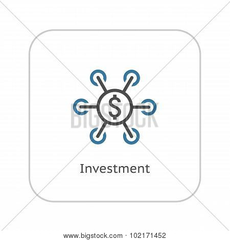 Investment Icon. Business Concept. Flat Design.