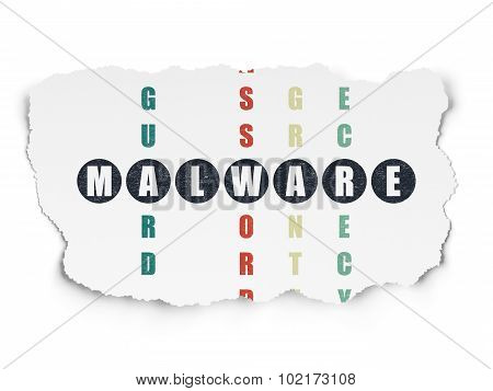 Privacy concept: Malware in Crossword Puzzle