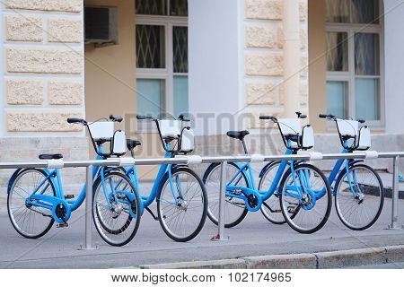 Bicycle Parking in the city
