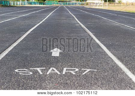Sports Facility. Running Track