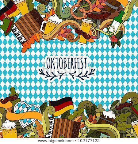 Doodle style design for Oktoberfest beer festival