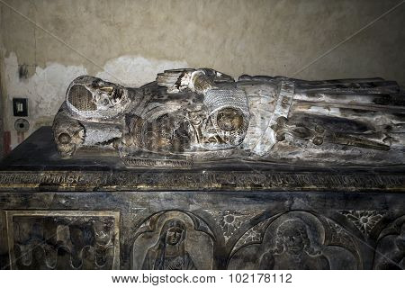 Royal Angevin Tomb In Santa Chiara, Naples, Italy