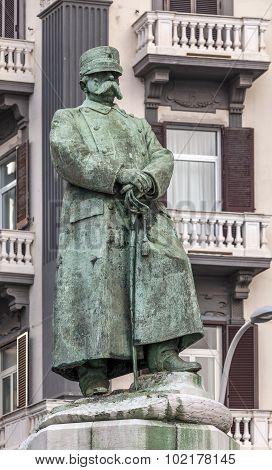 Statue Of Umberto I In Naples, Italy