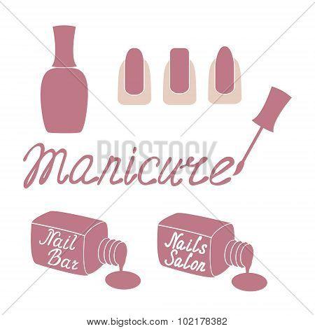 Manicure salon label.
