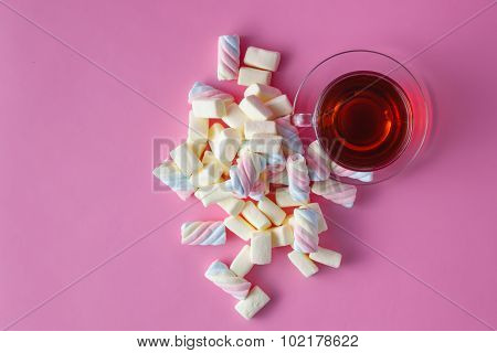 Tea Cup With Marshmallow