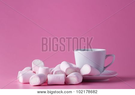 Tea Cup With Marshmallow For Her
