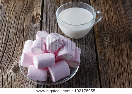 Pink Marshmallow With Milk