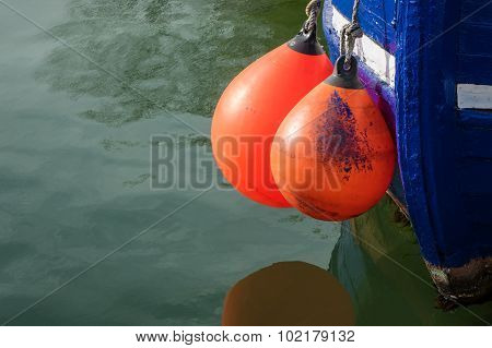 Fender On A Boat