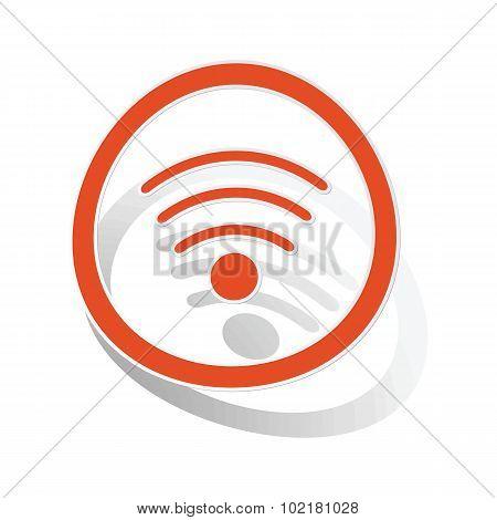 Wi-Fi sign sticker, orange