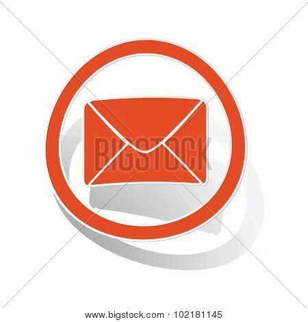 Letter sign sticker, orange