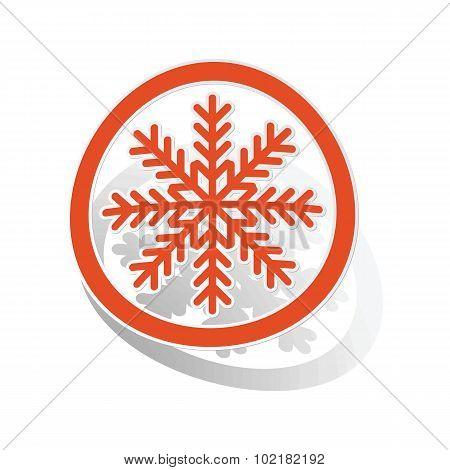 Cold sign sticker, orange