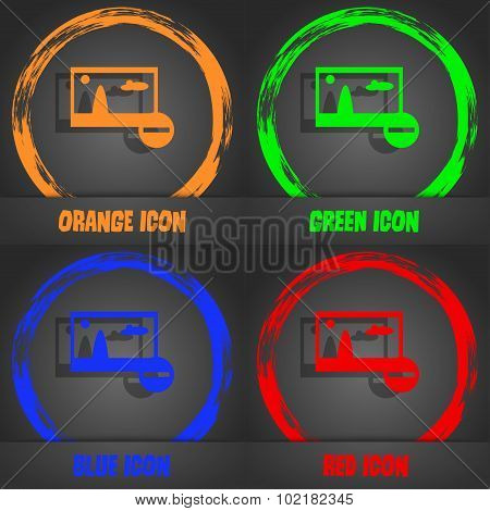 Minus File Jpg Sign Icon. Download Image File Symbol. Set Colourful Buttons. Fashionable Modern Styl