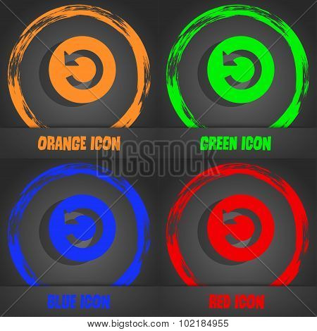 Upgrade, Arrow Icon Sign. Fashionable Modern Style. In The Orange, Green, Blue, Red Design. Vector