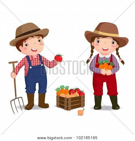 Profession's Costume Of Farmer For Kids