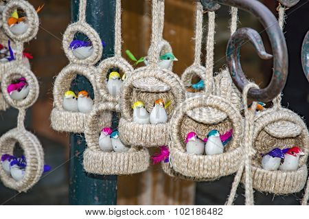 Decorative Birds And Cages