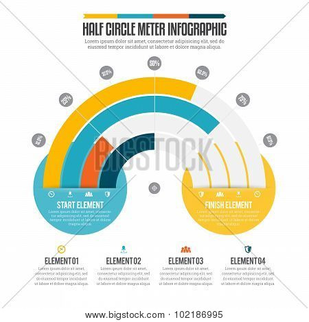 Half Circle Meter Infographic