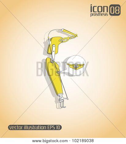 Vector Icon Prosthesis