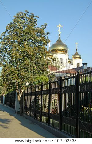 Krasnodar, Russia - August 11, 2011: Alexander Nevsky Cathedral, The Main Orthodox Church In Krasnod