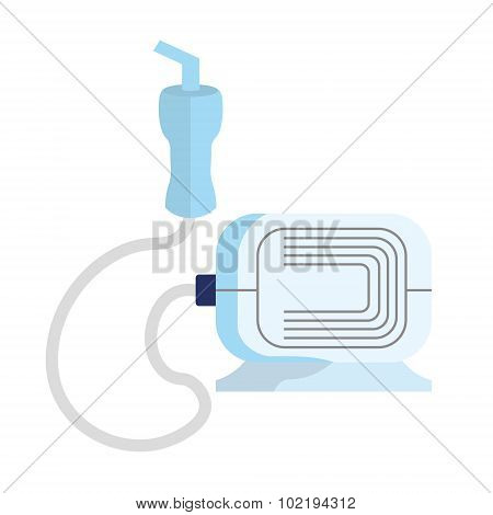 A nebulizer  from asthma and respiratory diseases in vector