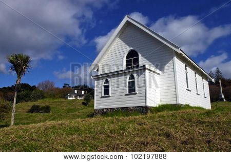 Church At Mangungu,  Horeke,  Hokianga Harbour, Nz