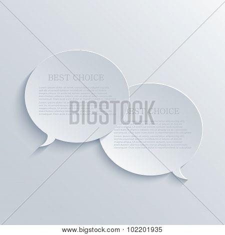 Vector modern bubble speech light background