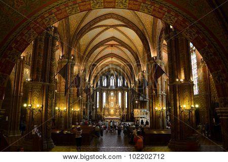 Budapest Matthias Church Interior