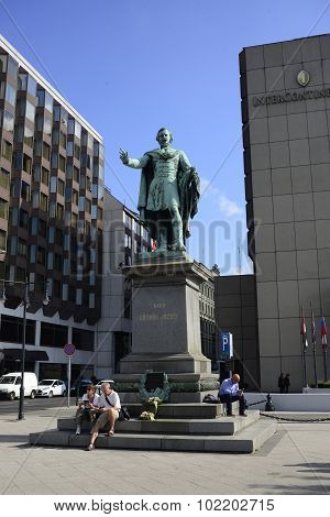 Budapest Statue Of Jozsef Eotvos