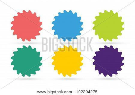 Abstract flower or star vector icons set