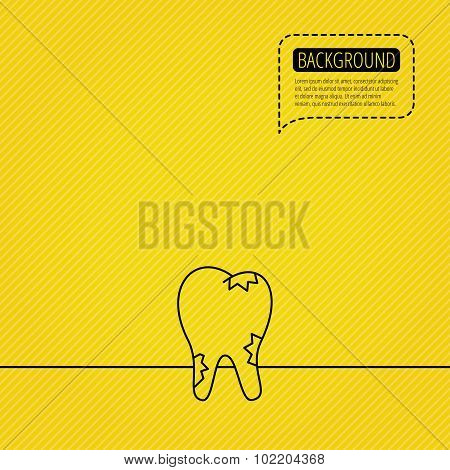 Cavities icon. Tooth health sign.