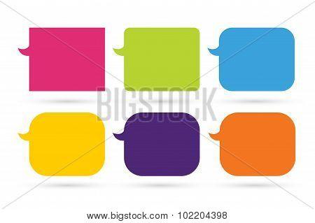 Speech vector cartoon bubble designlow