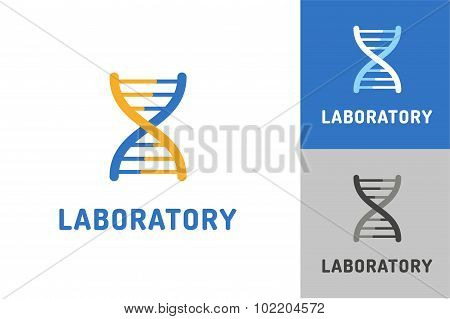 DNA vector logo. Technology biology icon