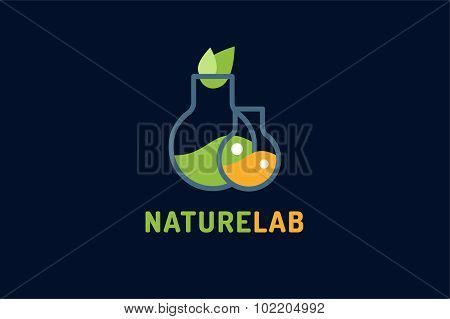 Laboratory ecology vector logo