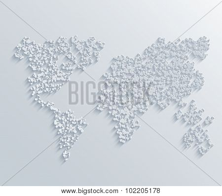 vector modern musical map background.