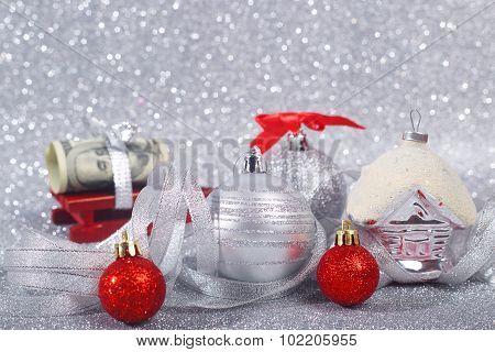 Christmas Balls And Money