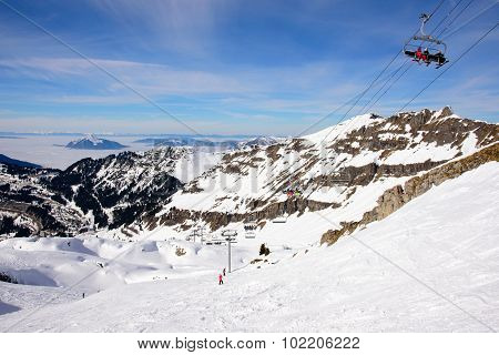 High Altitude Ski Slopes
